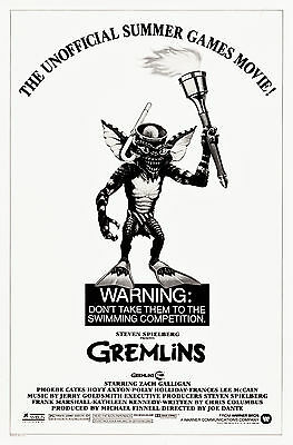 "Poster Gremlins 1984 27""x41"" VF+ 8.5 Olympic Style"