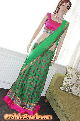 Lehnga Choli Pink Bellydancer Indian Bollywood Outfit