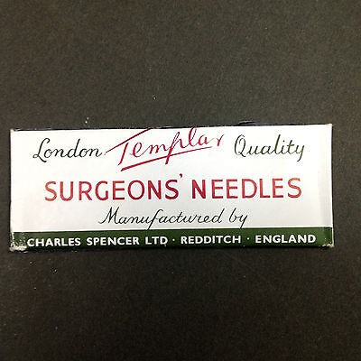 Vintage Surgical Medical TEMPLAR Surgeon's NEEDLES