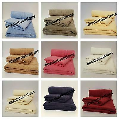 Egyptian Cotton Bath Hand Towels Sheet 600GSM Hotel Soft Quality Various Colors+