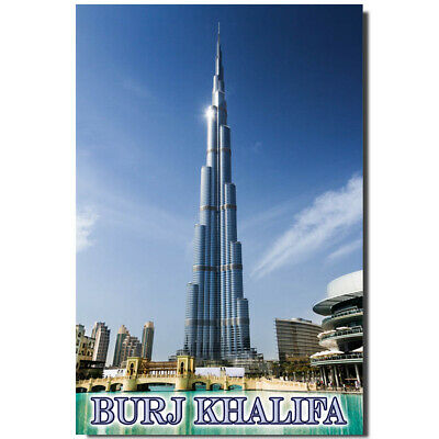 Fridge magnet with view of Burj Khalifa, Dubai