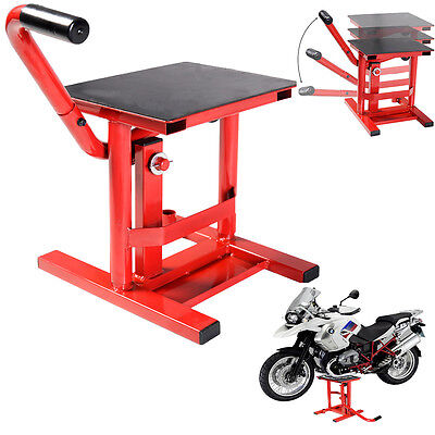 Dirt Bike Motocross Motorcycle Lift Stand Moto-X MX Maintenance Steel Enduro