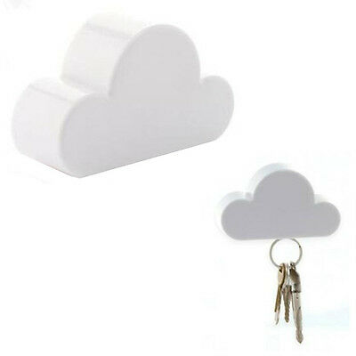 Holder Keychain Creative Cloud-Shaped White Cloud Novelty Key Holder Magnetic