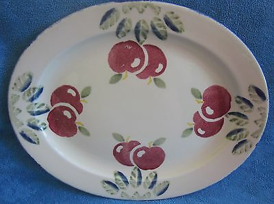 POOLE POTTERY Studio DORSET FRUITS APPLE Oval SERVING PLATTER PLATE hand painted
