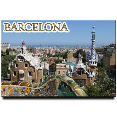 Park Guell fridge magnet Barcelona Spain travel souvenir
