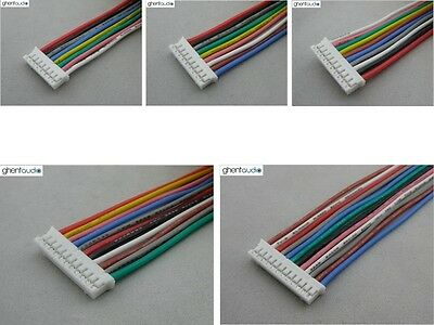 5 sets---JST PHR-8 PHR-9 PHR-10 PHR-11 PHR-12 UL 24AWG Silicone Cable/wire lead