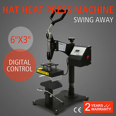 CAP HAT HEAT PRESS TRANSFER DIGITAL CONTROL CP815B MACHINE DIY PRESSING 15x8CM