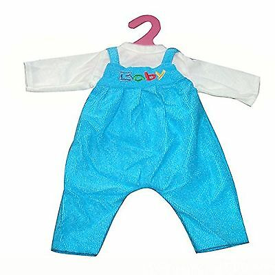 Highmall-uk 16 Inches High Simulation Baby Dolls Clothes Rompers Suit 1 Blue
