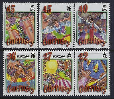 2002 Guernsey Europa: The Circus Set Of 6 Fine Mint Mnh/muh