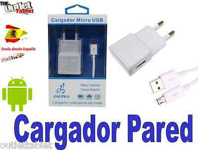CARGADOR PARED cable MICROUSB para SMARTPHONE LG K8 wall charger (V8)