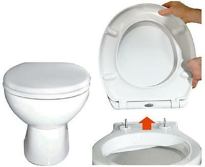 Toilet Seat Soft Close Quick Release Top Fix - Easy Clean - Durable - Oval Shape