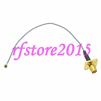 Cable 1.13mm 8inch RP-SMA female Flange to IPX U.fl female RF Pigtail Jumper