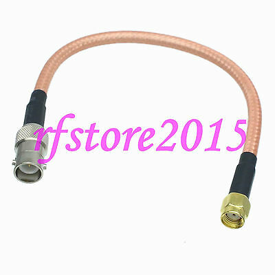 Cable RG142 8inch RP-BNC female plug to RP-SMA male jack RF Pigtail Jumper