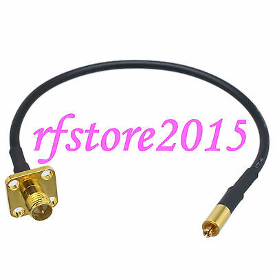 Cable RG174 6inch Mc-Card male plug to RP-SMA female Flange RF Pigtail Jumper