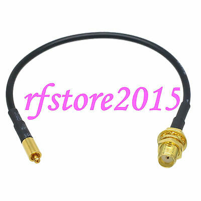 Cable RG174 6inch Mc-Card male plug to SMA female bulkhead RF Pigtail Jumper