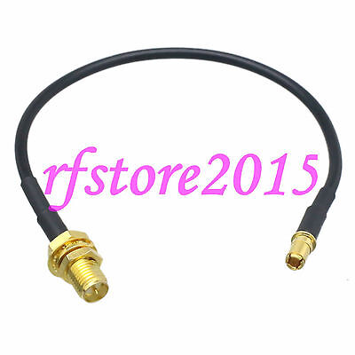 Cable RG174 6inch RP-SMA female bulkhead to TS9 male plug gold RF Pigtail Jumper