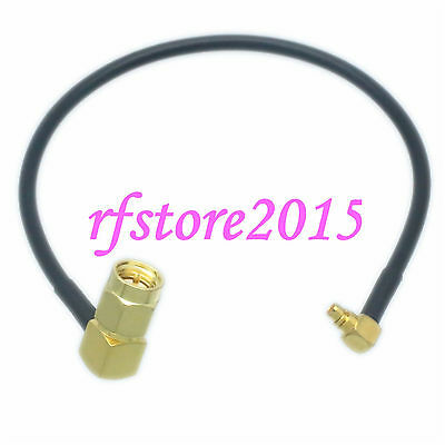 Cable RG174 6inch SMA male right angle to MMCX male plug 90° RF Pigtail Jumper