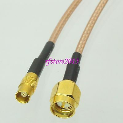 Cable RG316 6inch MCX female jack to SMA male plug Straight RF Pigtail Jumper