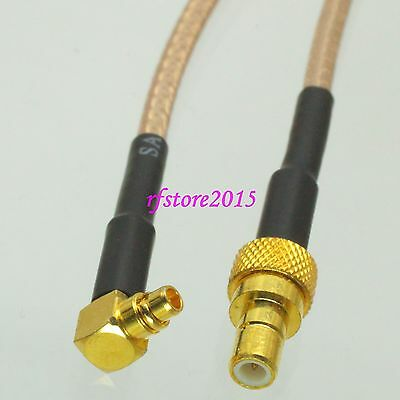 Cable RG316 6inch SMB male plug to MMCX male right angle RF Pigtail Jumper
