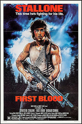 """Poster Rambo First Blood 1982 27""""x41"""" NM 9.0 Sylvester Stallone Brian Dennehy"""