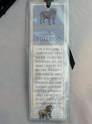 Russ Berrie and Co Purebred Puppies Bulldog Dog Bookmark & Pewter Pin NEW