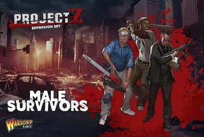 Project Z - Male Survivors - Warlord Games Zombie Tabletop 28mm Überlebende