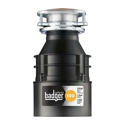 Badger 100 Continuous Feed Garbage Quiet Disposer Disposal Quick-Lock Sink Mount