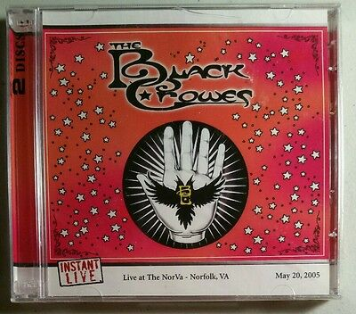 THE BLACK CROWES Norfolk, VA 5/20/05 Sealed 2 CD Instant Live Very Rare! Sealed!