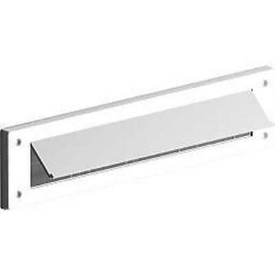 WHITE LETTER BOX BRUSH BRISTLE DRAUGHT EXCLUDER PVC WITH COVER FLAP Exitex