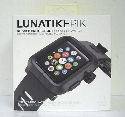 LUNATIK - EPIK Polycarbonate Case and Silicone Band 42mm - Black -EPIK-001