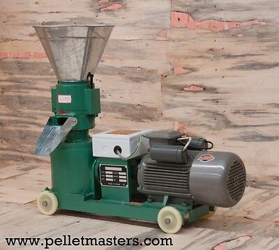"Pellet Mill 5"" Die 3 KW (4hp) 220V 1phase motor, FREE SHIPPING"