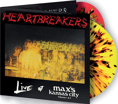 HEARTBREAKERS 'Live at Max's Vols 1 & 2' 2LP spattered vinyl new Johnny Thunders