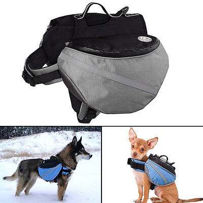 Pets Dog Saddle Bag Pet Backpack Carrier Outdoor Hiking Camping Travel Bags 2016
