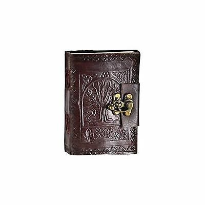 Leather Celtic Tree of Life Book of Shadows Blank Spell Book Wicca ~
