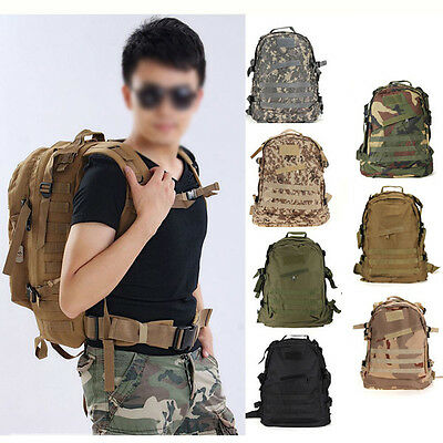 40L Outdoor Expandable Tactical Backpack Military Camping Hiking Trekking DM