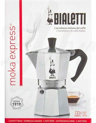 Bialetti Moka Express 4 Cup Espresso Maker New Stovetop Coffee Brewer from Italy