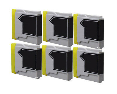 6 Compatible Black Ink Cartridges, For Brother LC1000 LC-1000BK MFC-465CN 5460CN