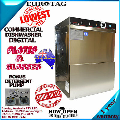 EUROTAG Commercial Undercounter Dishwasher 90-120-180 sec washing cycles