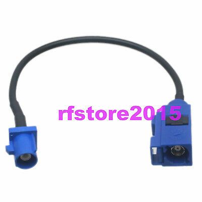 Cable RG174 Fakra SMB C 5005 male plug to C female jack RF Pigtail Jumper