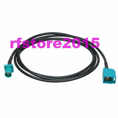 Cable RG174 Fakra SMB Z 5021 male plug to Z female jack RF Pigtail Jumper