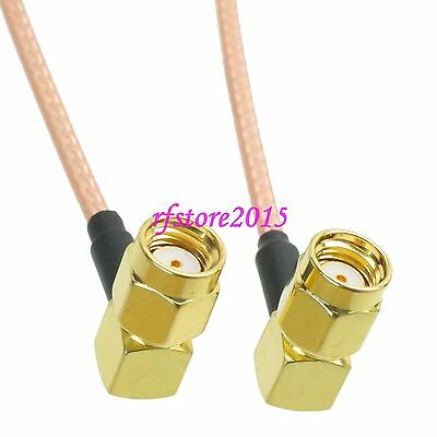 Cable RG316 RP-SMA male jack right angle to RPSMA male 90° RF Pigtail Jumper