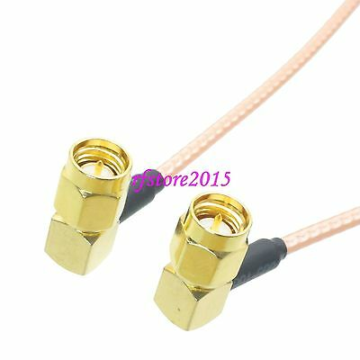 Cable RG316 SMA male plug 90° to SMA male plug right angle RF Pigtail Jumper