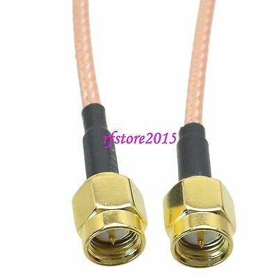 Cable RG316 SMA male plug to SMA male plug Double shielded RF Pigtail Jumper