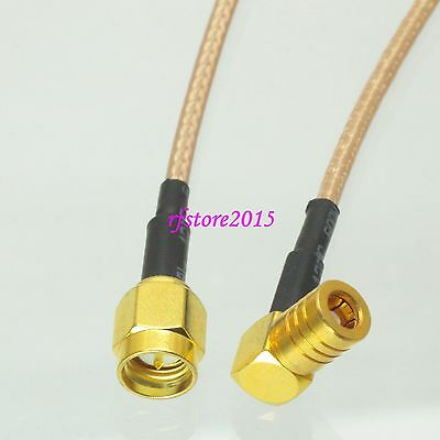 Cable RG316 SMA male plug to SMB female jack Right angle RF Pigtail Jumper
