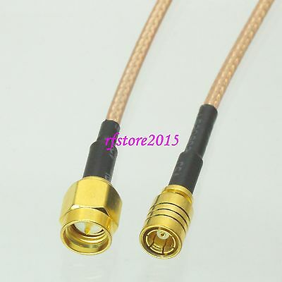 Cable RG316 SMA male plug to SMB female jack straight RF Pigtail Jumper