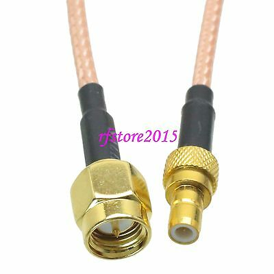 Cable RG316 SMA male plug to SMB male plug Straight RF Pigtail Jumper