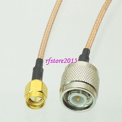 Cable RG316 SMA male plug to TNC male plug straight RF Pigtail Jumper