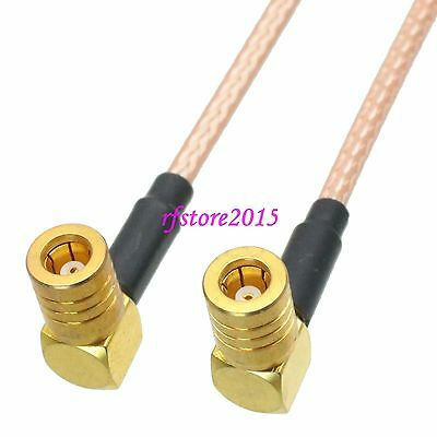 Cable RG316 SMB female jack 90° to SMB female Right angle RF Pigtail Jumper