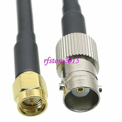 Cable RG58 BNC female jack to SMA male plug Straight RF Pigtail Jumper