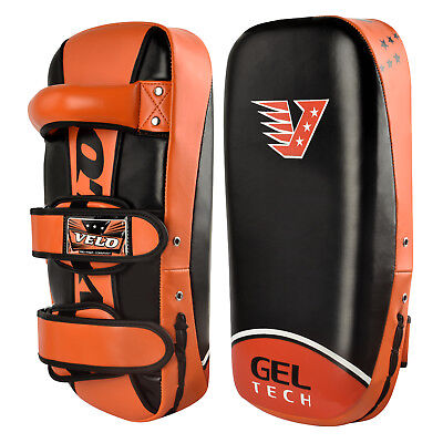 VELO Kick Shield Arm Pad Thai Boxing Strike Curved MMA Focus Muay Punch Mitt
